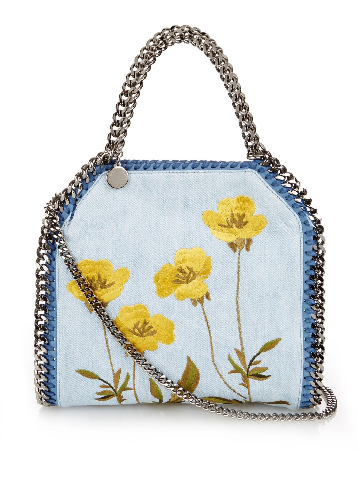 aea4ade5434e Lyst - Stella McCartney Falabella Mini Bella Denim Cross-body Bag in ...