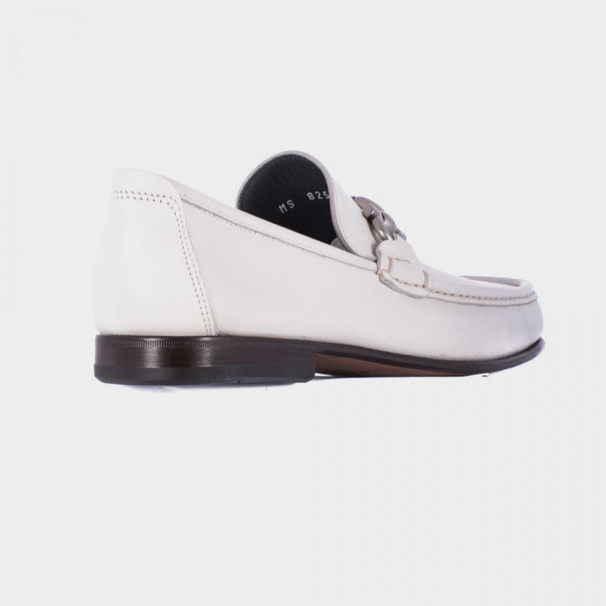 ferragamo white leather quot giordano quot shoe in white for