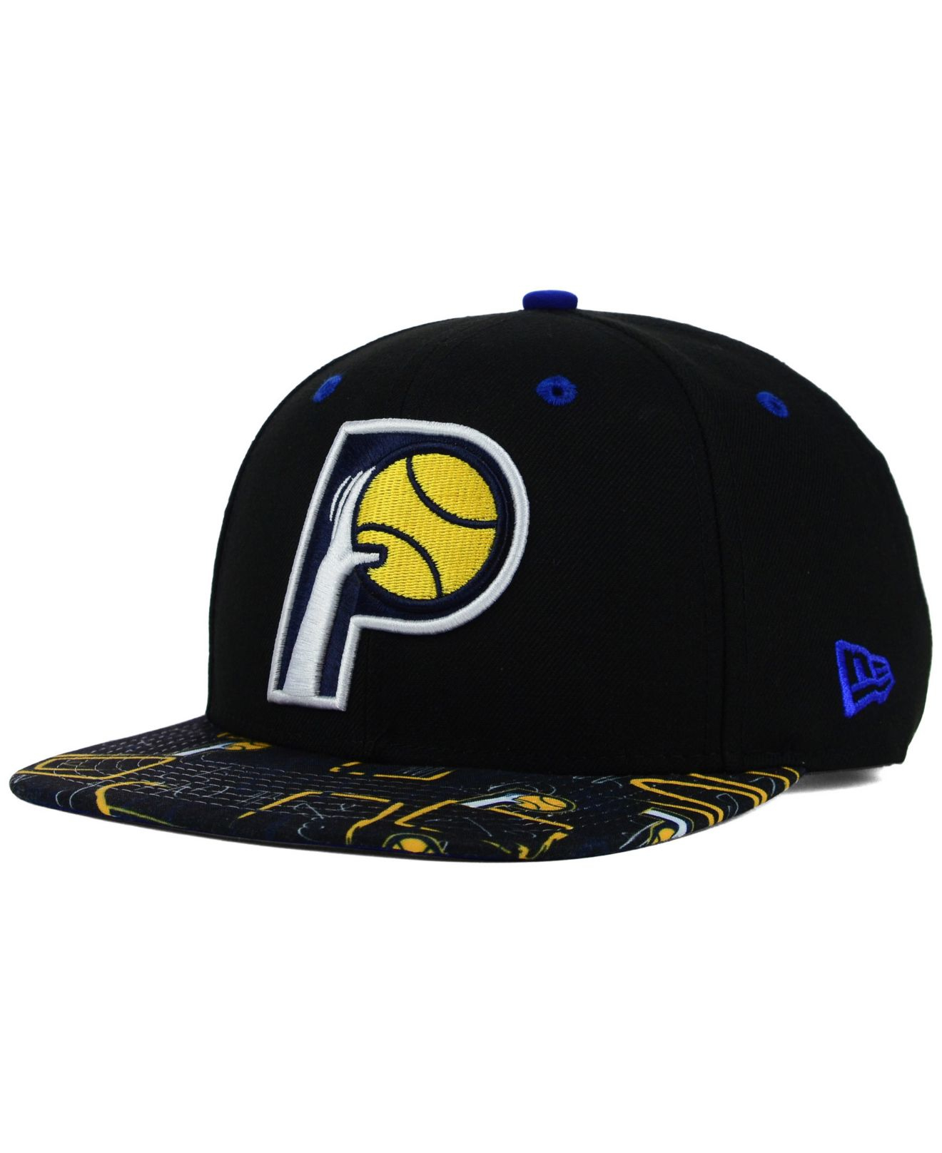 superior quality baf8e 31cd4 Lyst - KTZ Indiana Pacers Hwc Tag It 9fifty Snapback Cap in Black ...