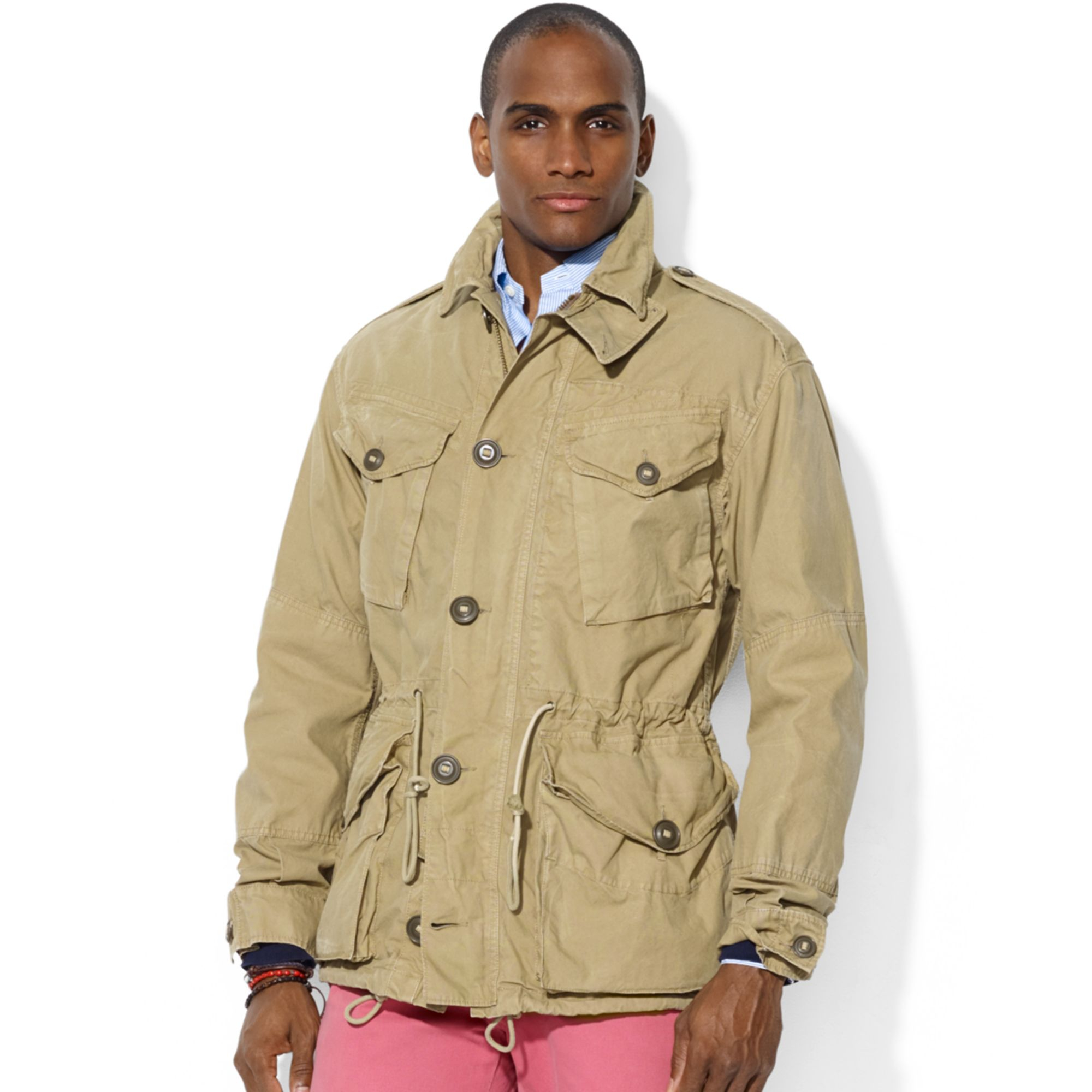 ralph lauren polo combat jacket in khaki for men lyst. Black Bedroom Furniture Sets. Home Design Ideas