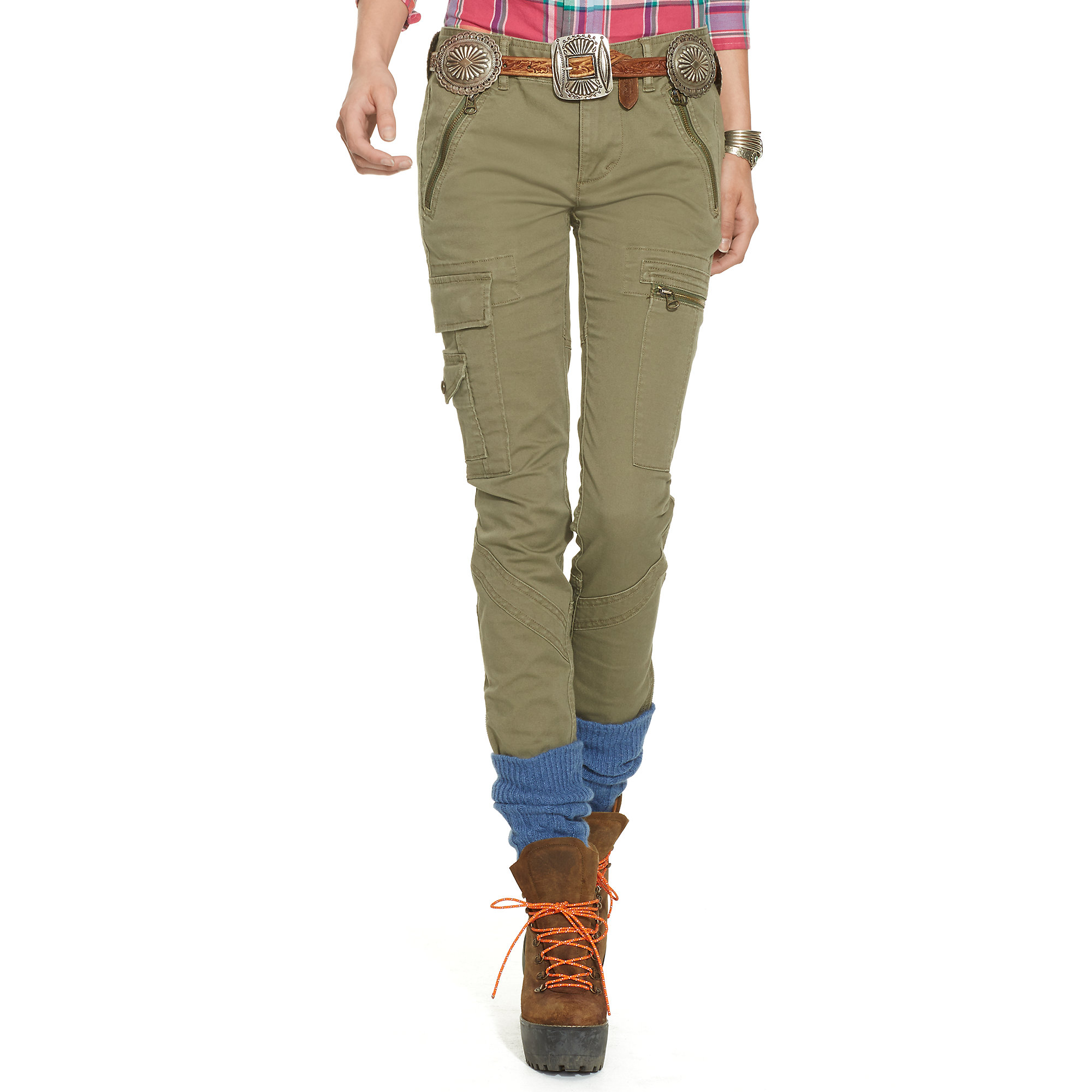 Amazing Ralph Lauren Blue Label Ahneta Cargo Pants In Natural  Lyst