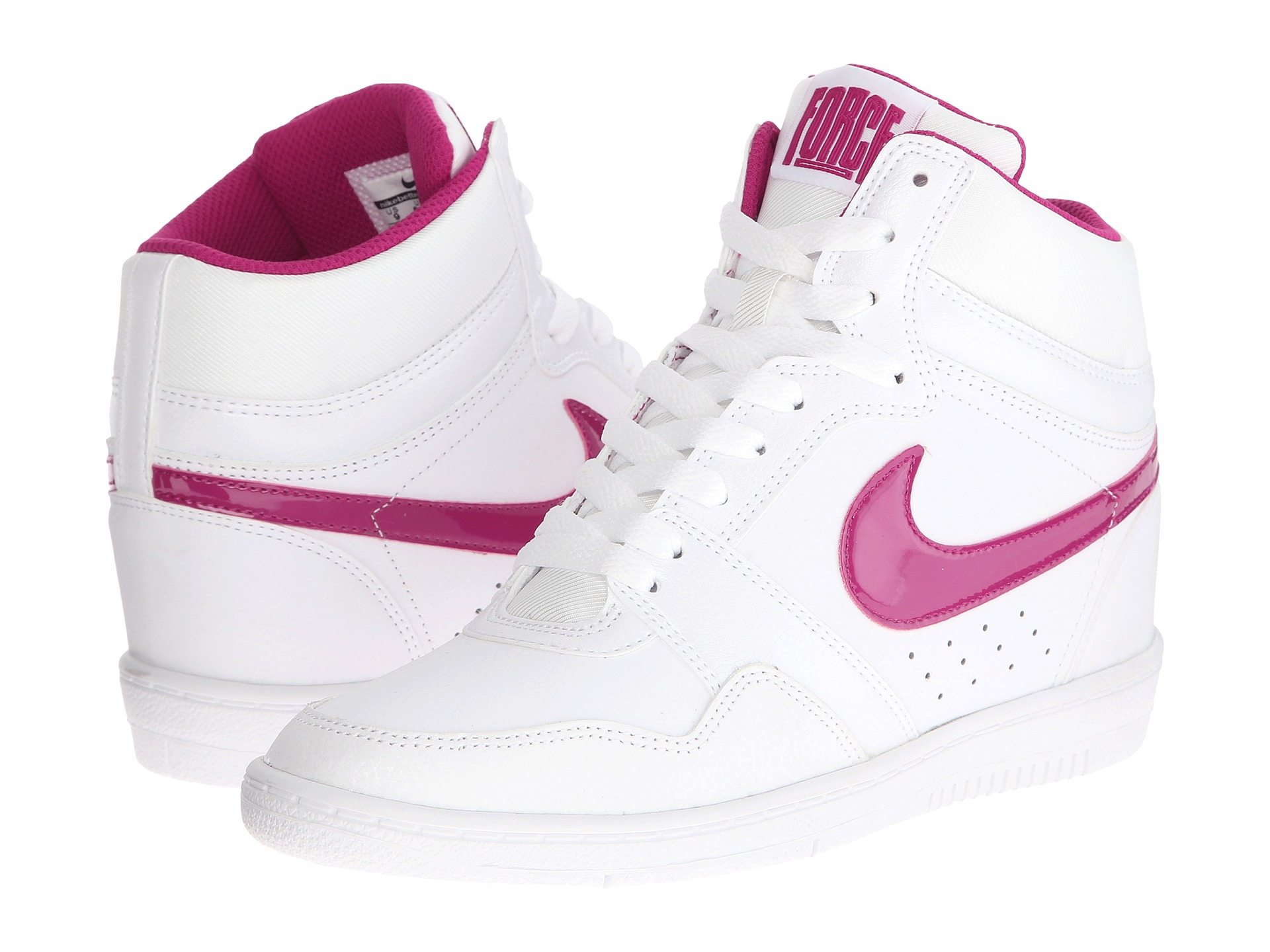 more photos 61d72 3d072 Lyst - Nike Force Sky High Sneaker Wedge in White