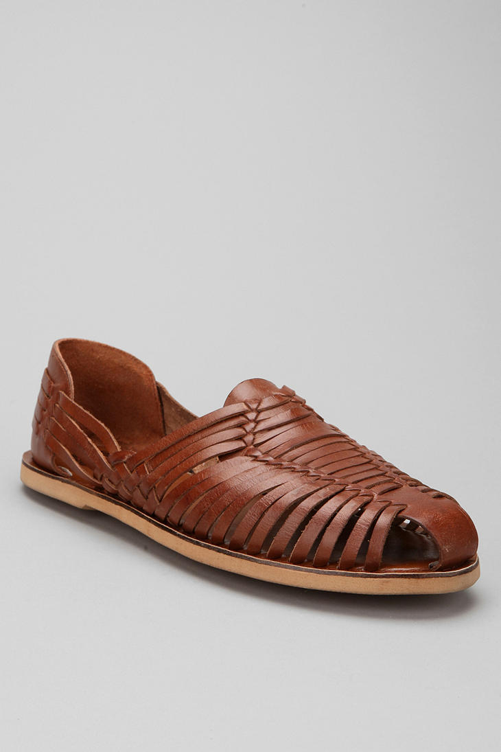 6bd0d72addc Lyst - Urban Outfitters Huarache Leather Sandals in Brown for Men