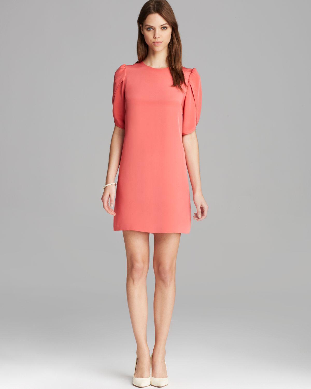 Cynthia Steffe Dress Sunday Tulip Sleeve Shift In Orange