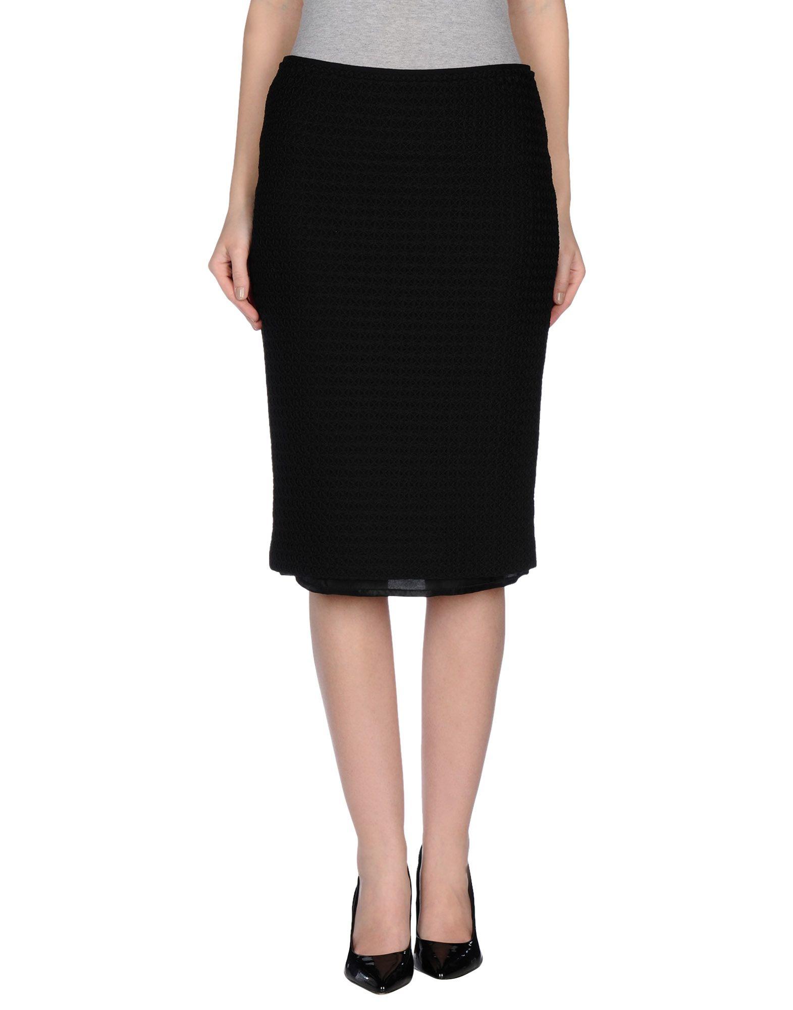 jucca knee length skirt in black lyst