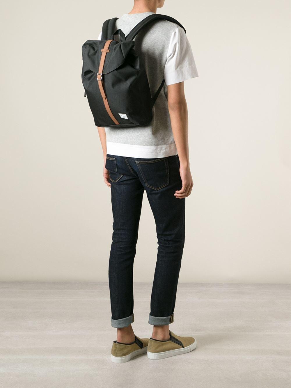 cb400777b6c Lyst - Herschel Supply Co.  Post  Backpack in Black for Men
