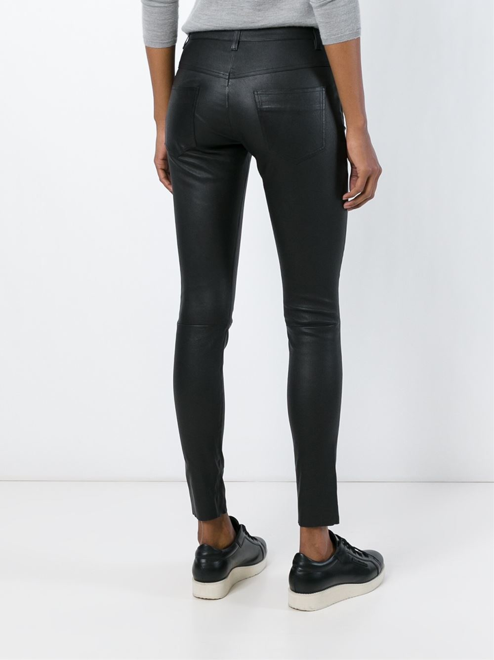 Trousers Black Muubaa Lyst Skinny Leather In cR354ALqj