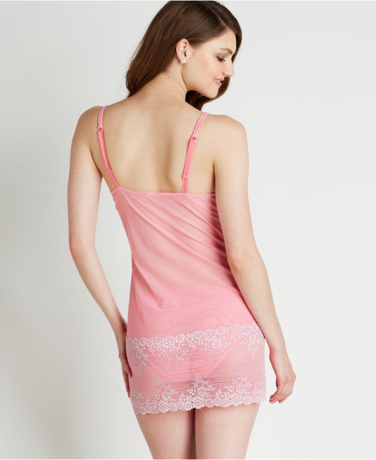72ebd1835953a Lyst wacoal embrace lace chemise in pink jpg 1320x1616 Wacoal chemise