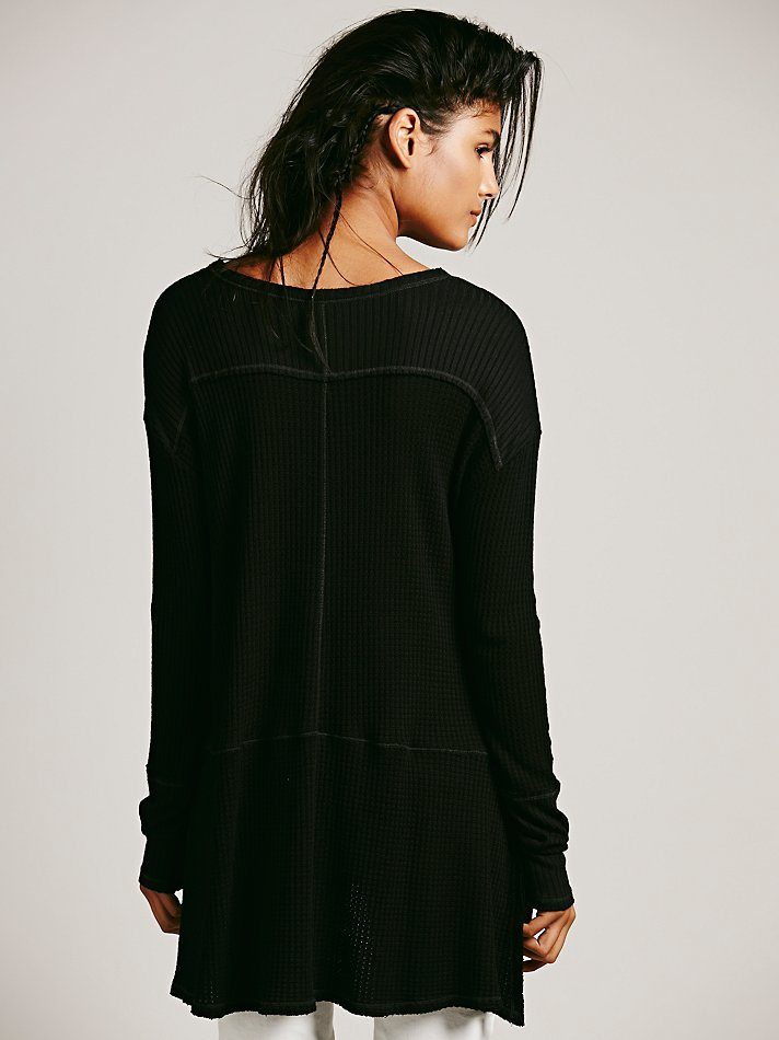 38bb7f478aa Free People We The Free Sunset Park Thermal in Black - Lyst