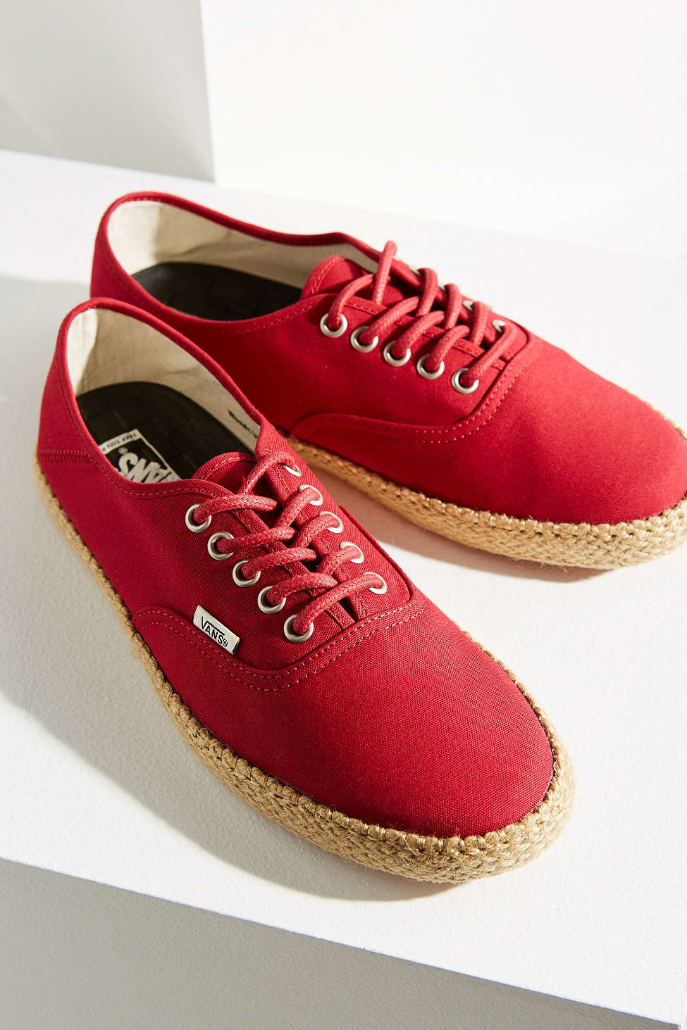 9033e7811ba Lyst - Vans Surf Authentic Espadrille Sneaker in Red
