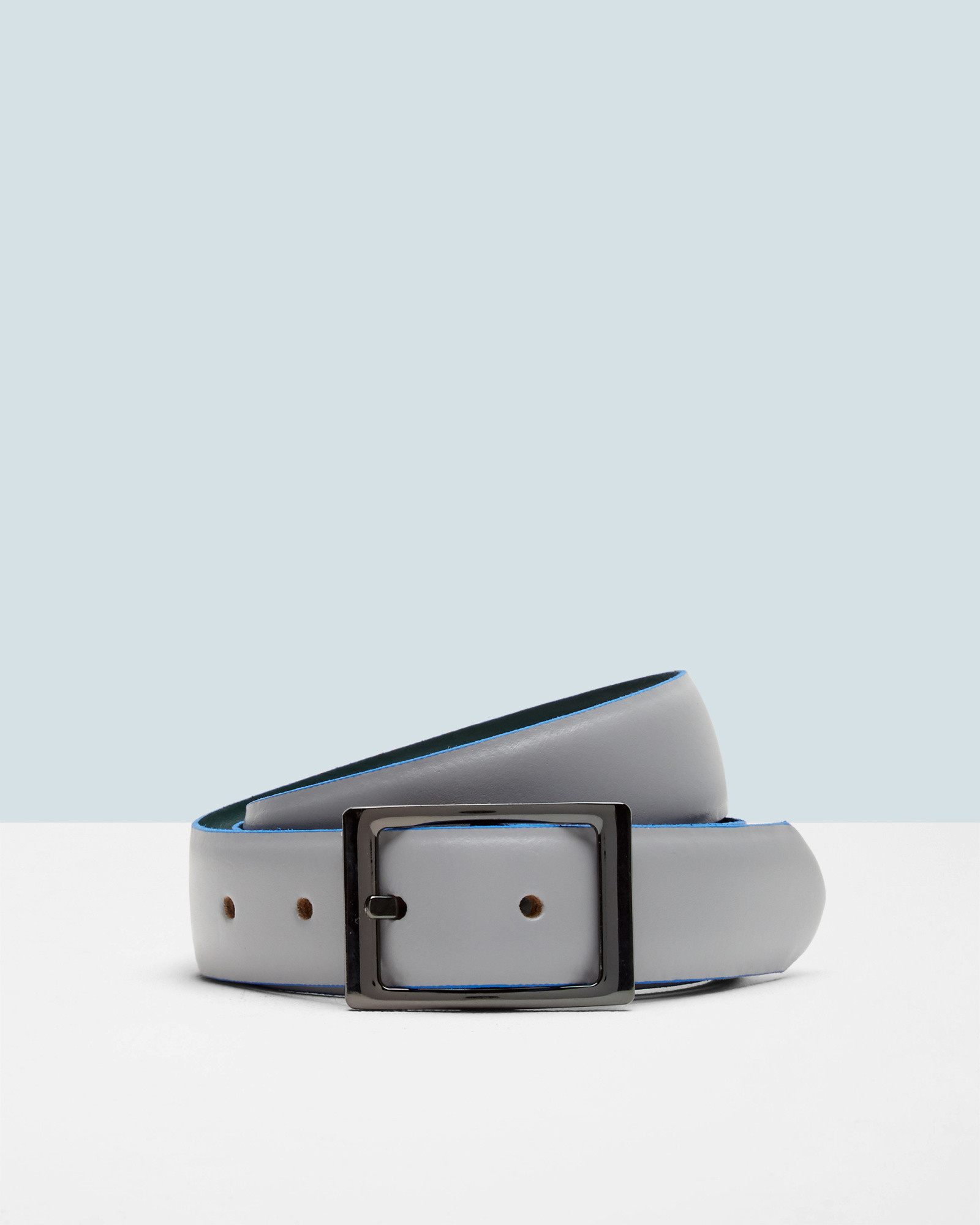 9a190932e4fc Lyst - Ted Baker Reversible Leather Belt in Gray for Men