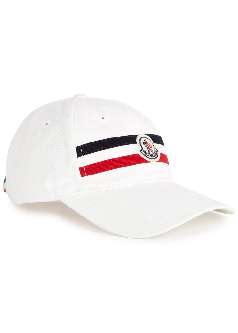 da2e23a379e0 Moncler White Cotton Twill Cap in White for Men - Lyst