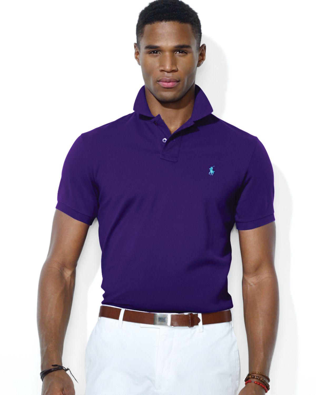 eac895d330d06 Lyst - Ralph Lauren Polo Custom Stretch Mesh Polo Shirt Slim Fit in ...