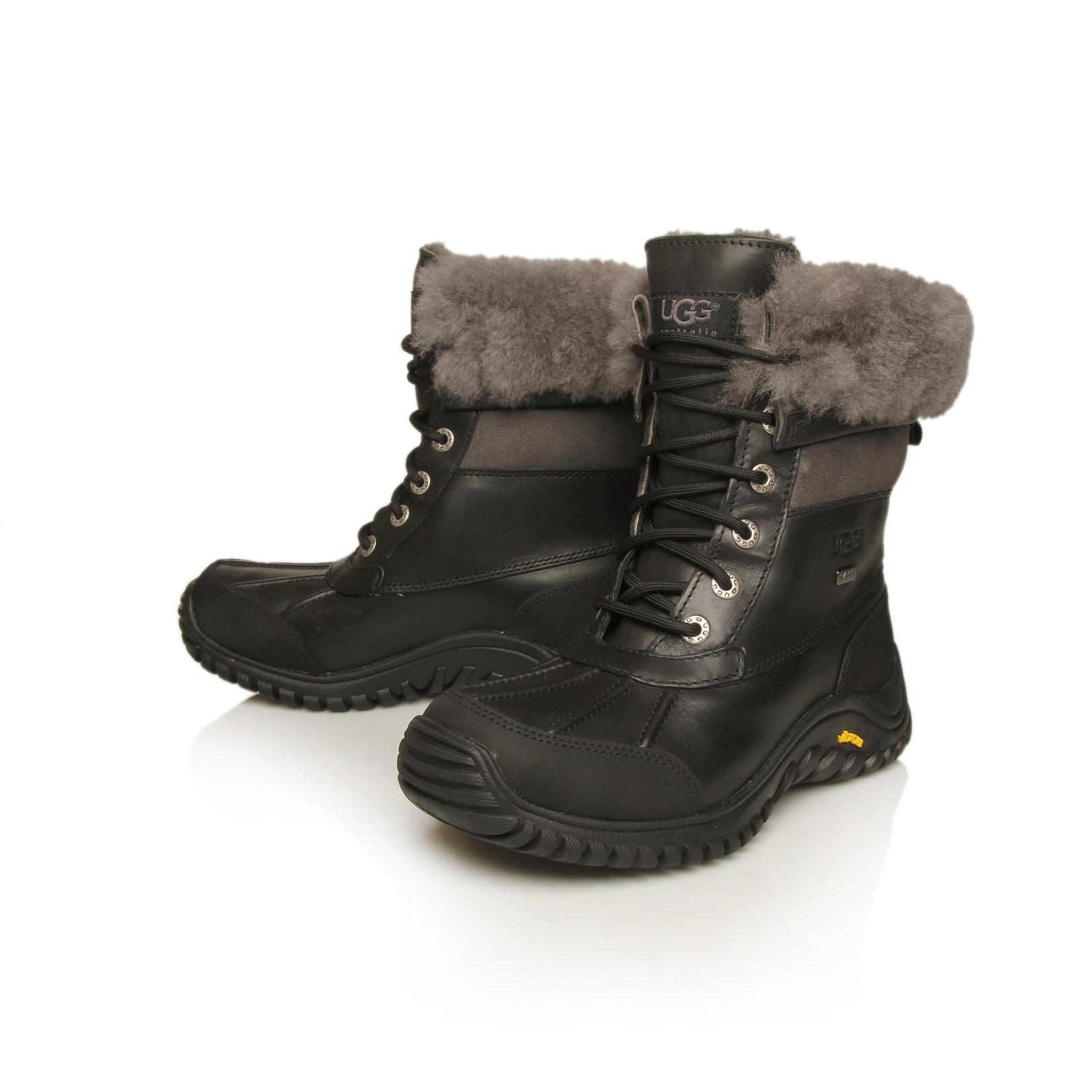 Ugg Adirondack Leather Boot Ii In Black Lyst