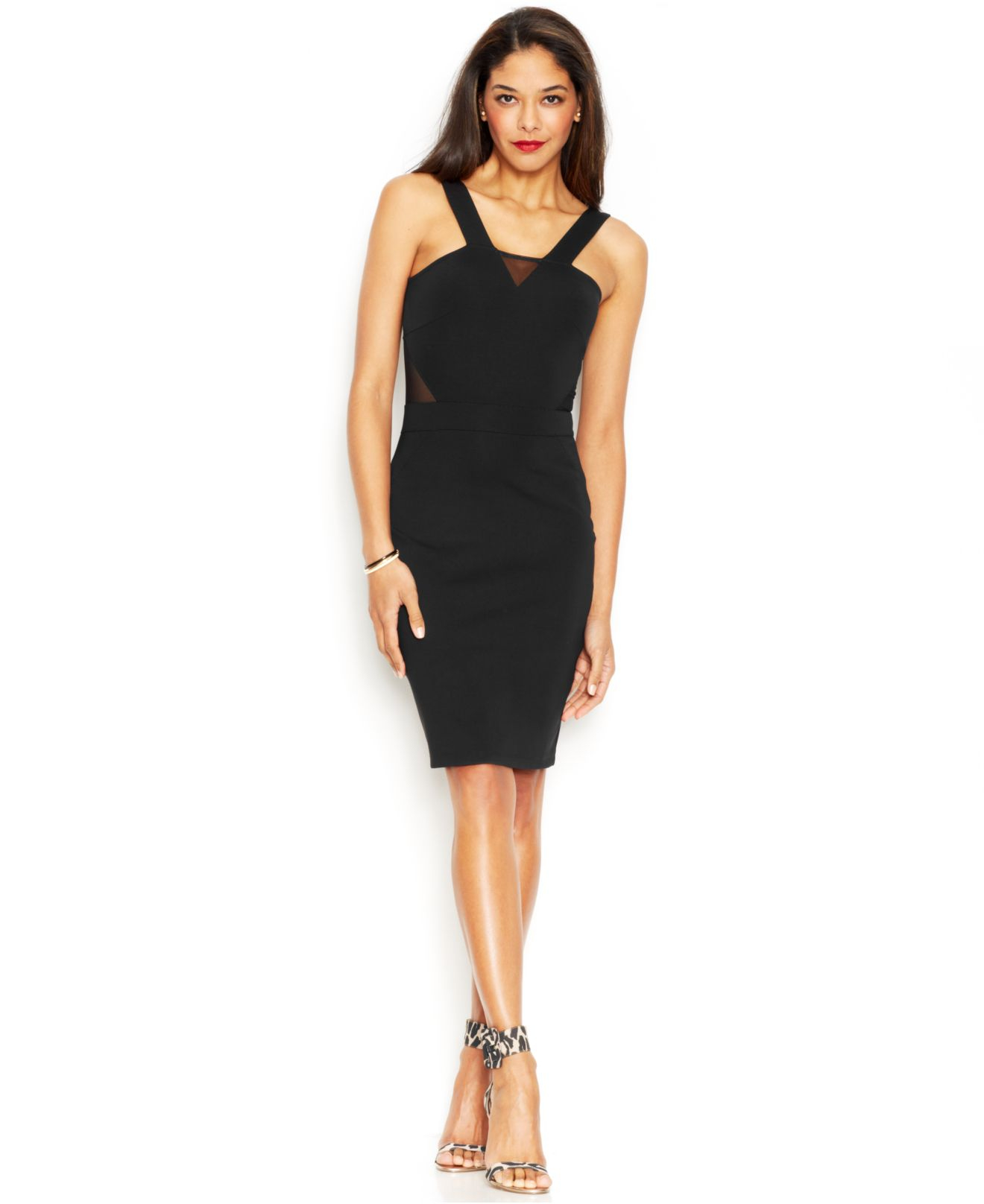 Black strapless v-neck dress