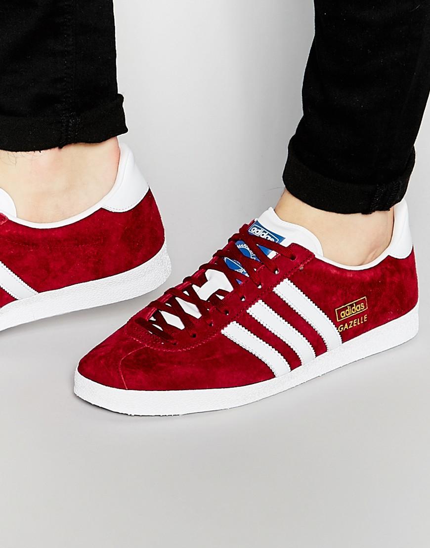 adidas gazelle og womens red