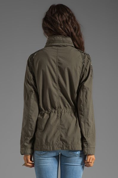 Haute Hippie Military Anorak Jacket In Military In Green