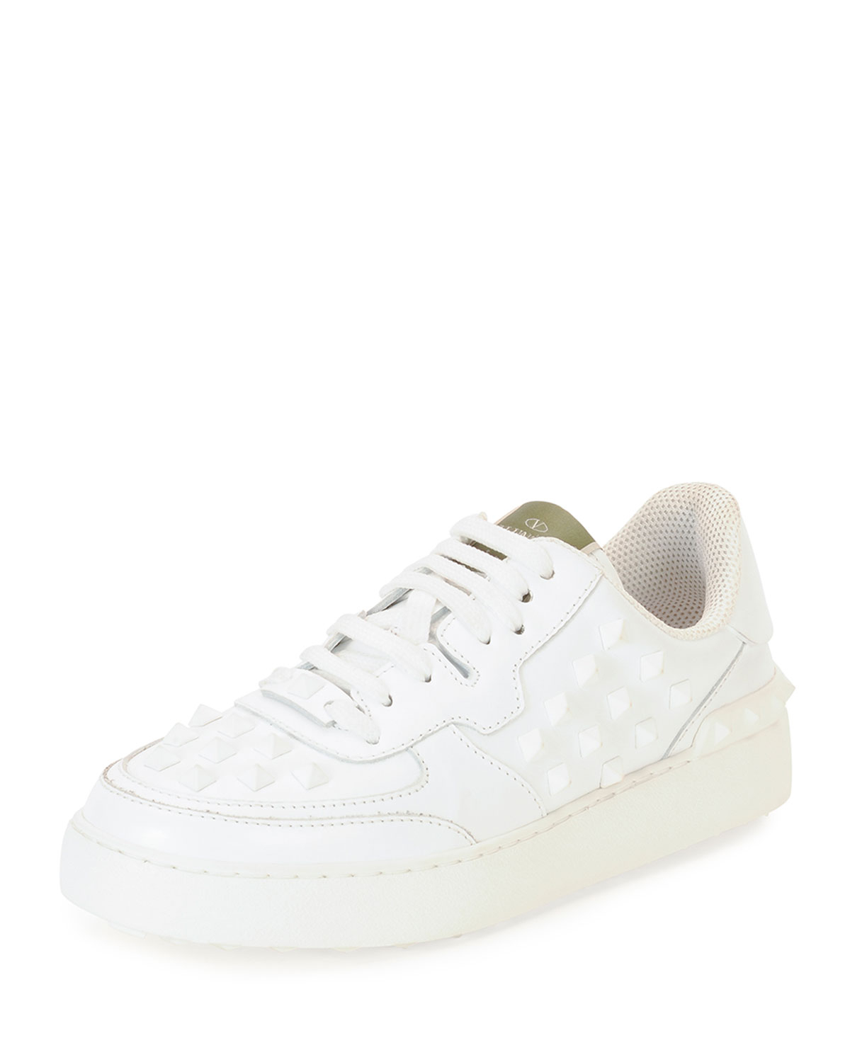 Valentino Leather Low-Top Sneakers sale get to buy footlocker finishline sale online with mastercard cheap online new 2015 new online k987OR8p7x
