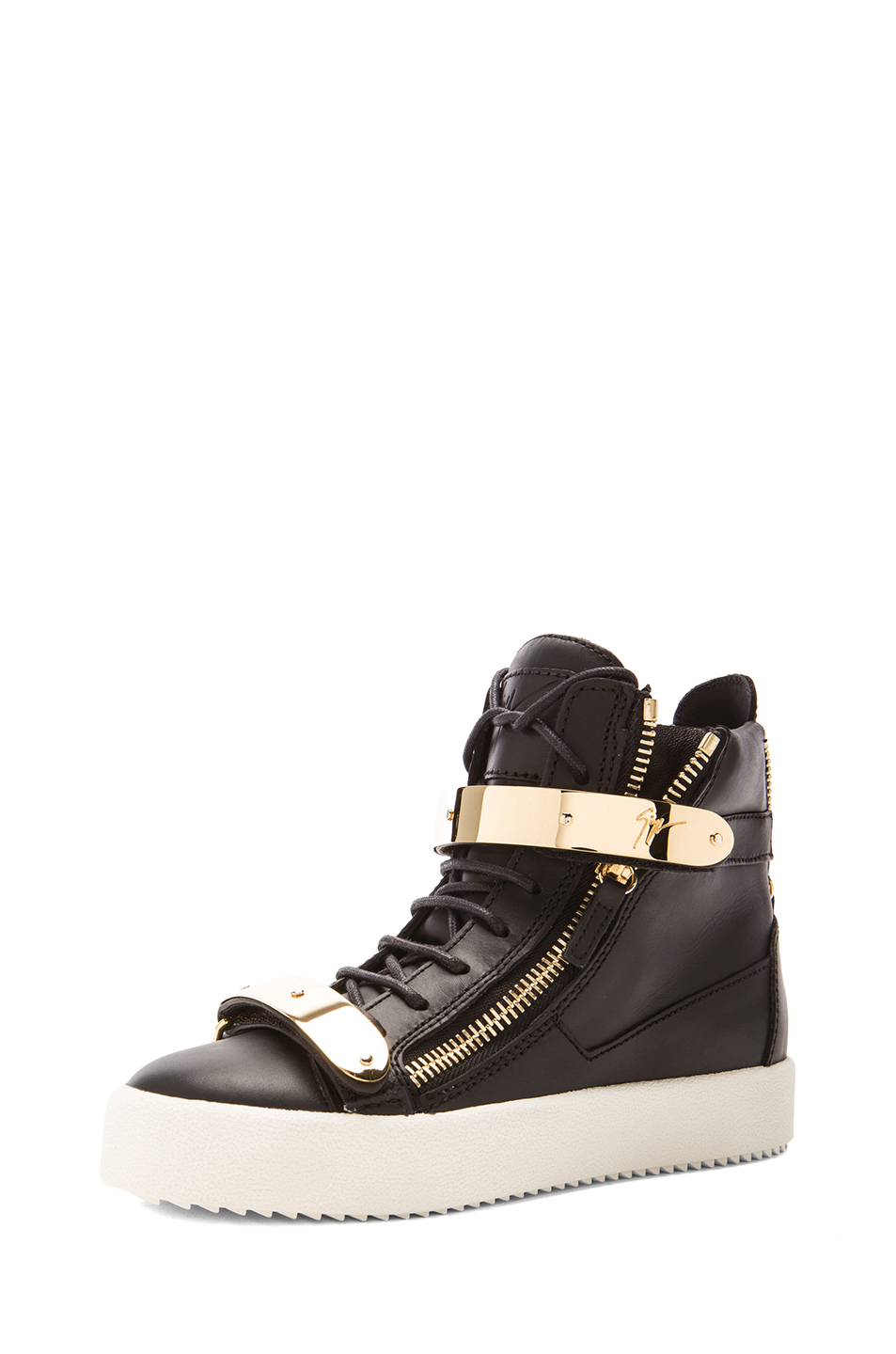 Giuseppe zanotti Leather Bucked Sneakers in Black | Lyst
