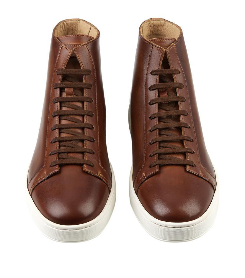 High-top sneakers brown Santoni Xg0Yu3VjET