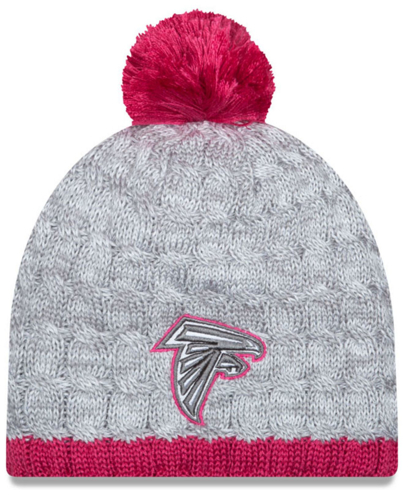 972f511fdf5a9 Lyst - KTZ Women s Atlanta Falcons Breast Cancer Awareness Knit Hat ...