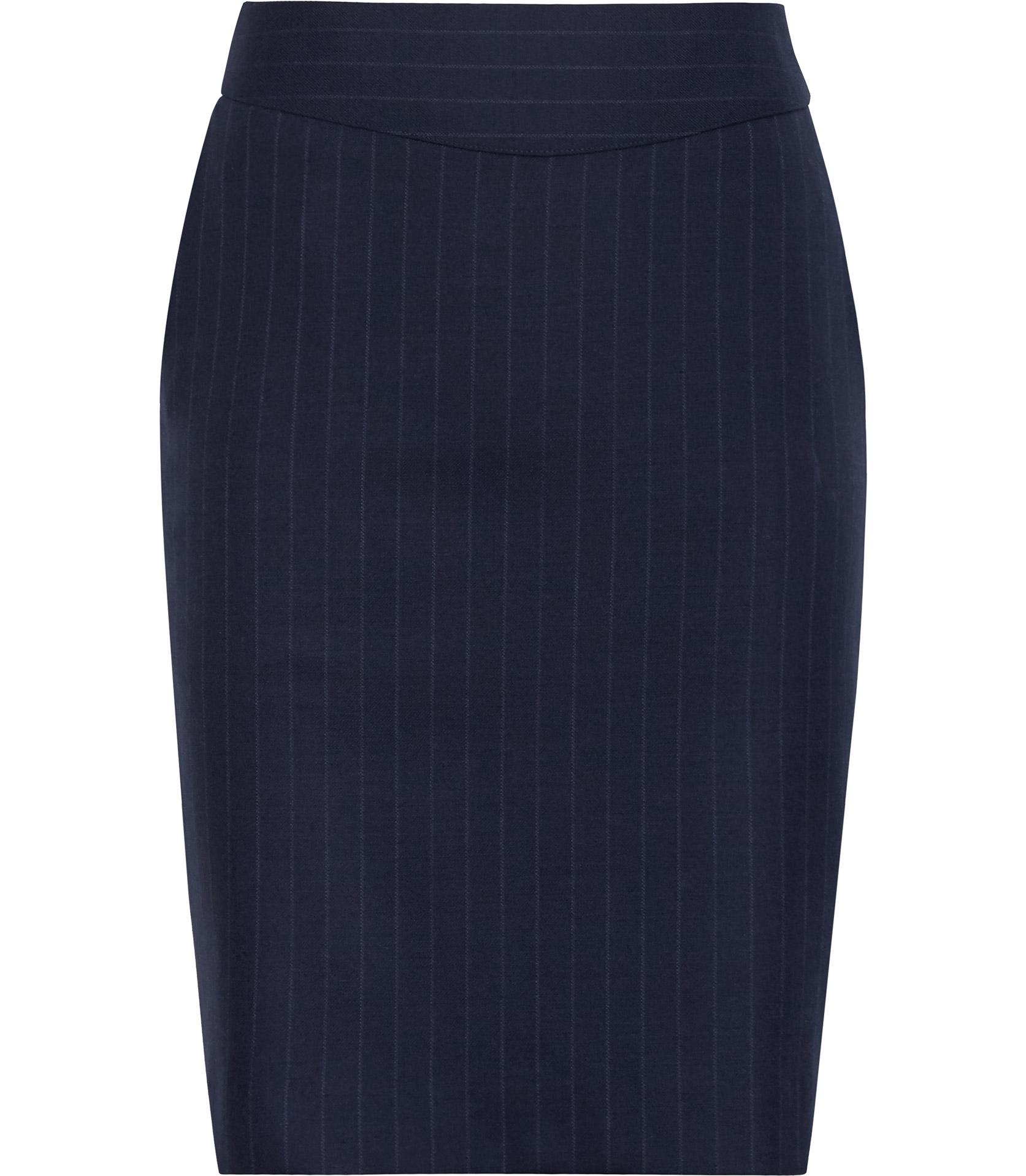 Reiss Ginger Pinstripe Pencil Skirt in Blue | Lyst