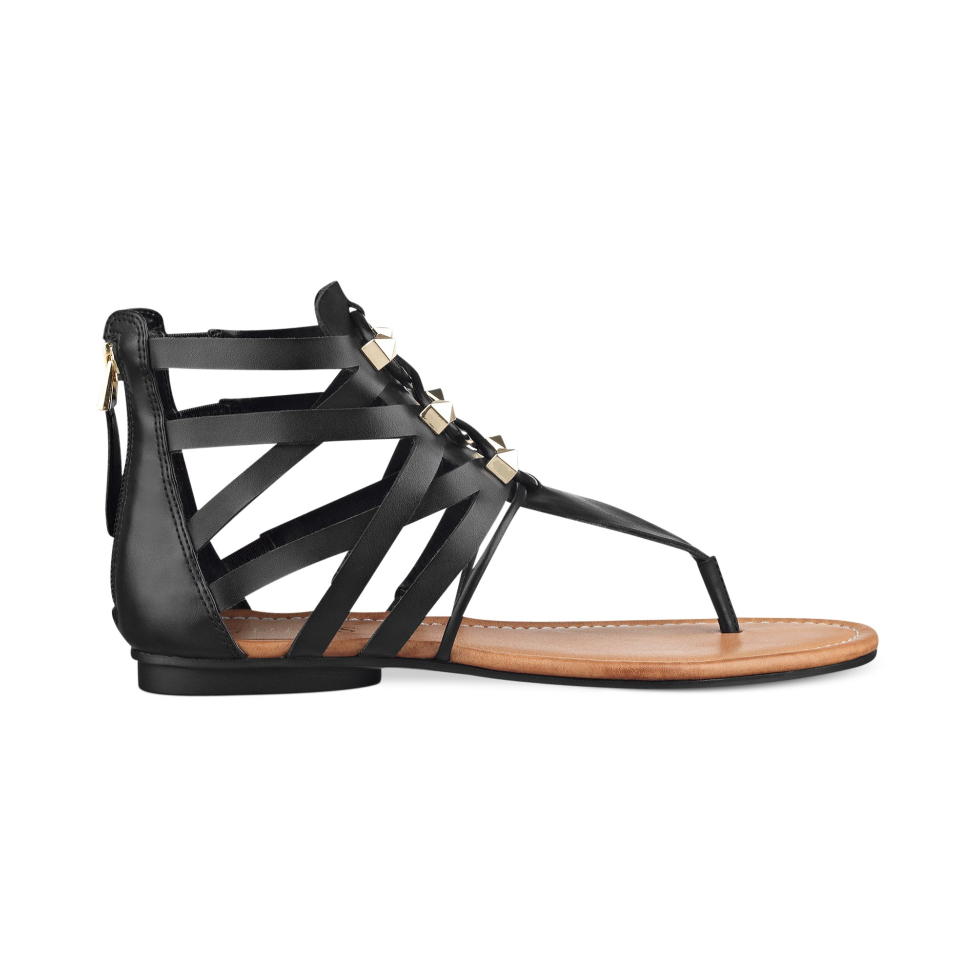Guess Glando Gladiator Flat Thong Sandals In Black Lyst