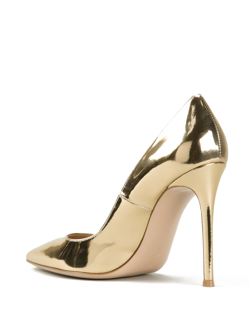 Gianvito rossi Metallic Gold Pumps in Metallic | Lyst