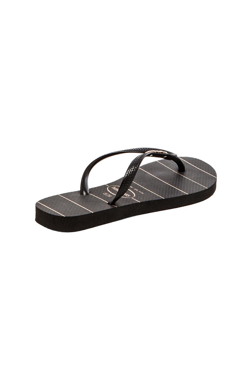 fd438cf22 Lyst - Havaianas Slim Logo Metallic Fine Lines Flip Flop in Black