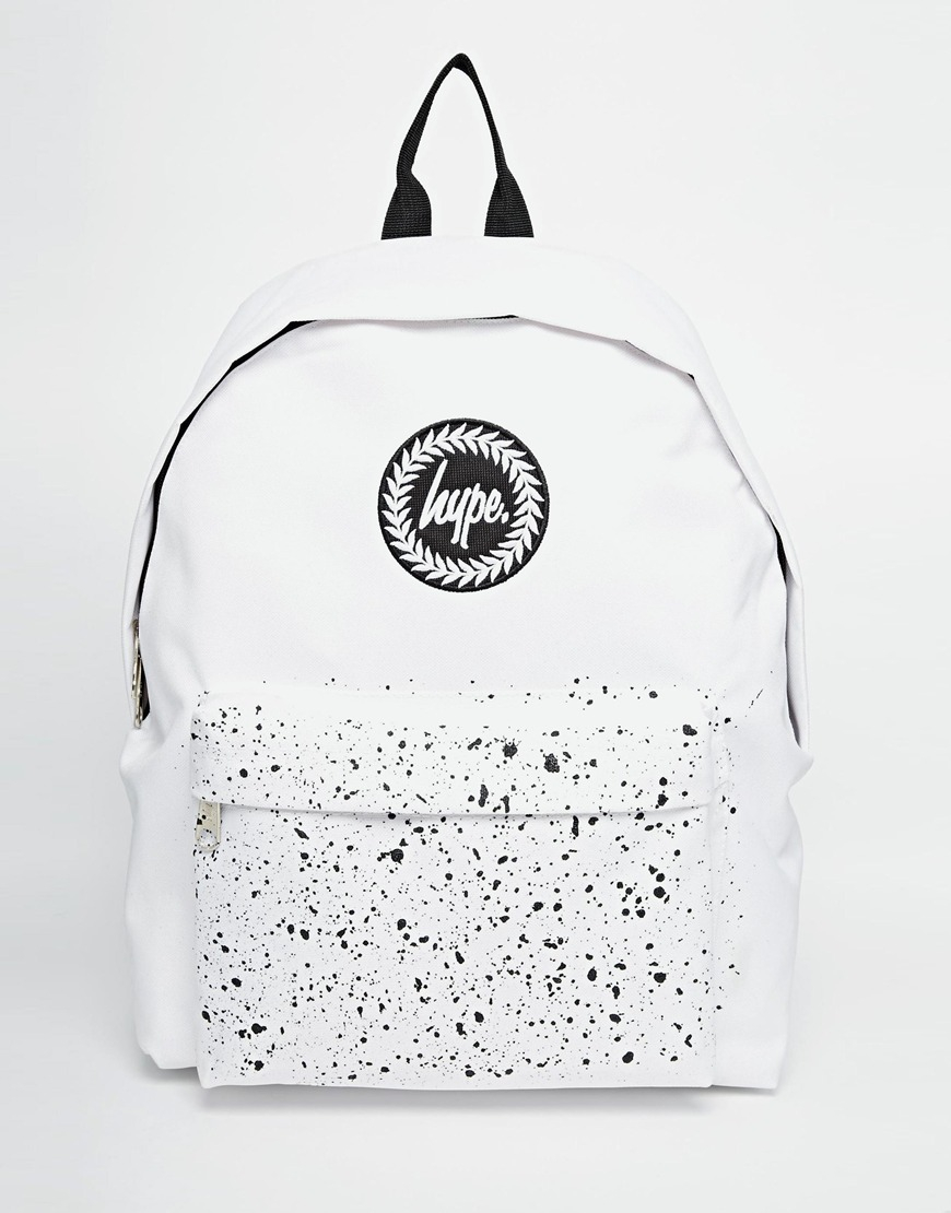Lyst Hype Backpack With Speckle Pocket In White For Men