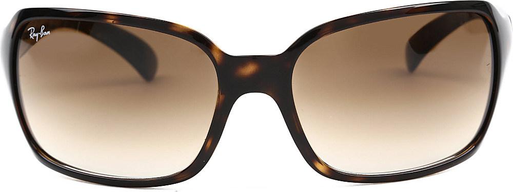 Ray Ban Light Havana Square Sunglasses In Tortoiseshell