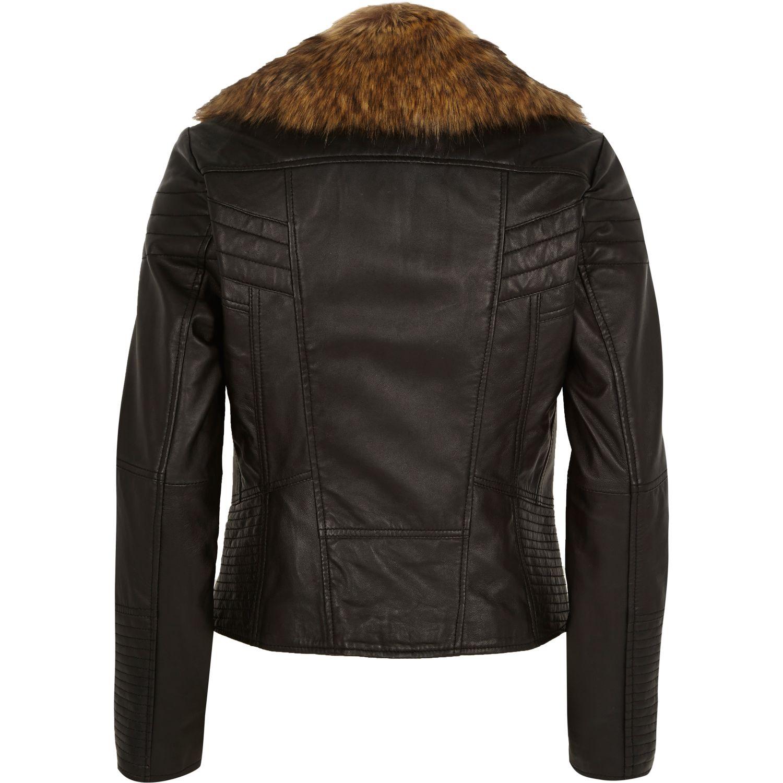 Leather jacket river island