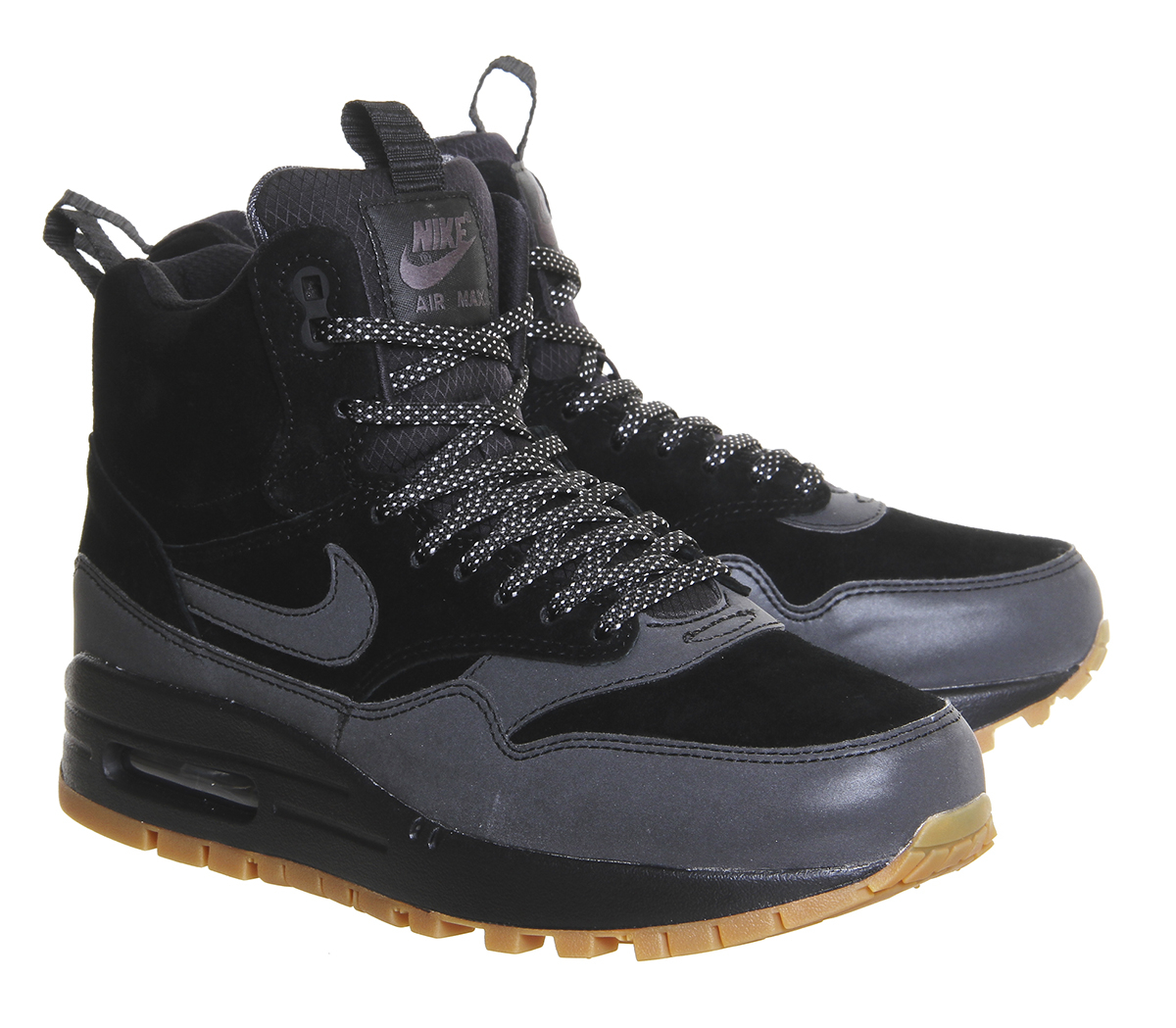 nike air max 1 mid sneakerboot w in black lyst. Black Bedroom Furniture Sets. Home Design Ideas