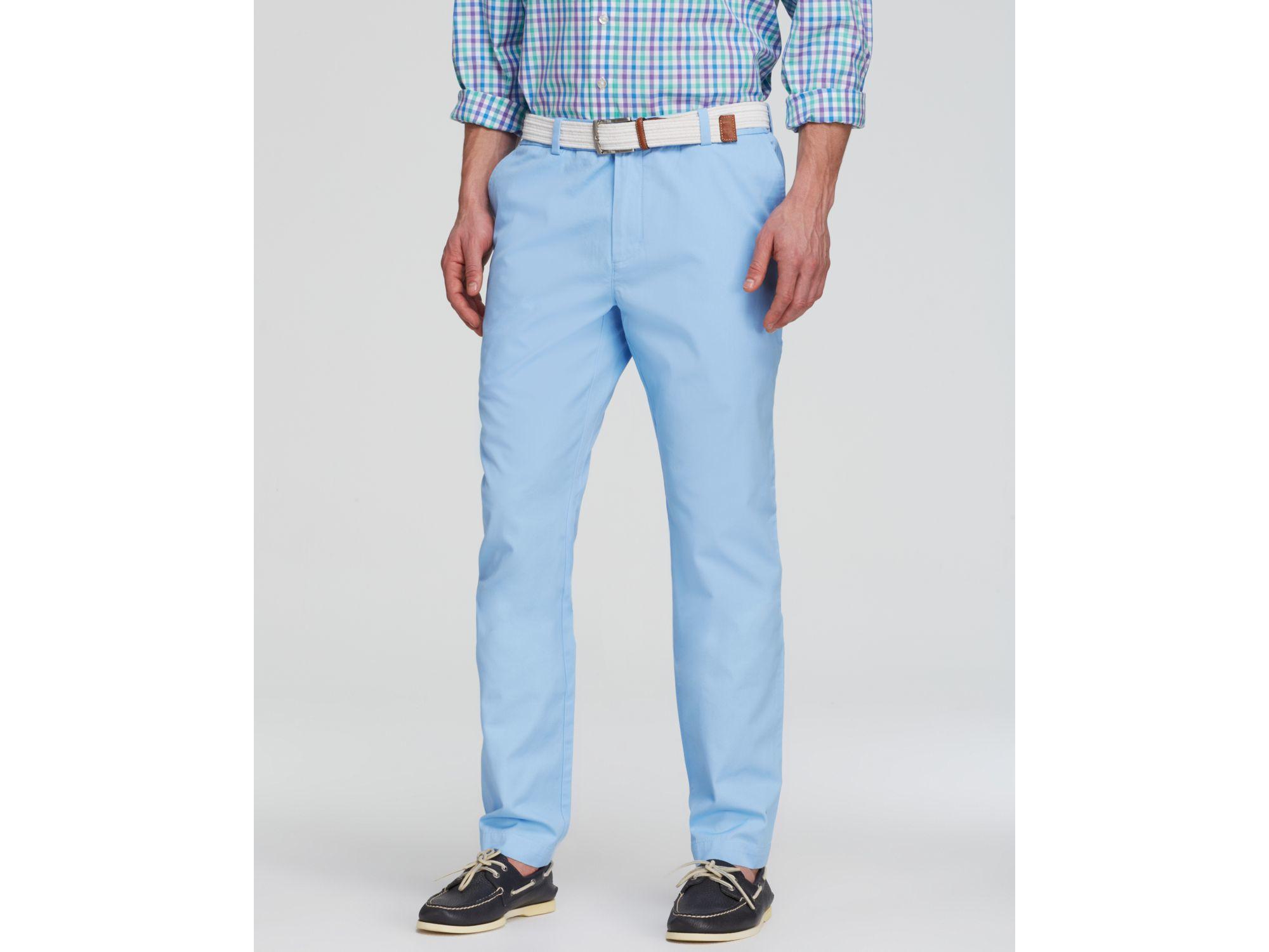 Lyst Vineyard Vines Breaker Pants Slim Fit In Blue For Men
