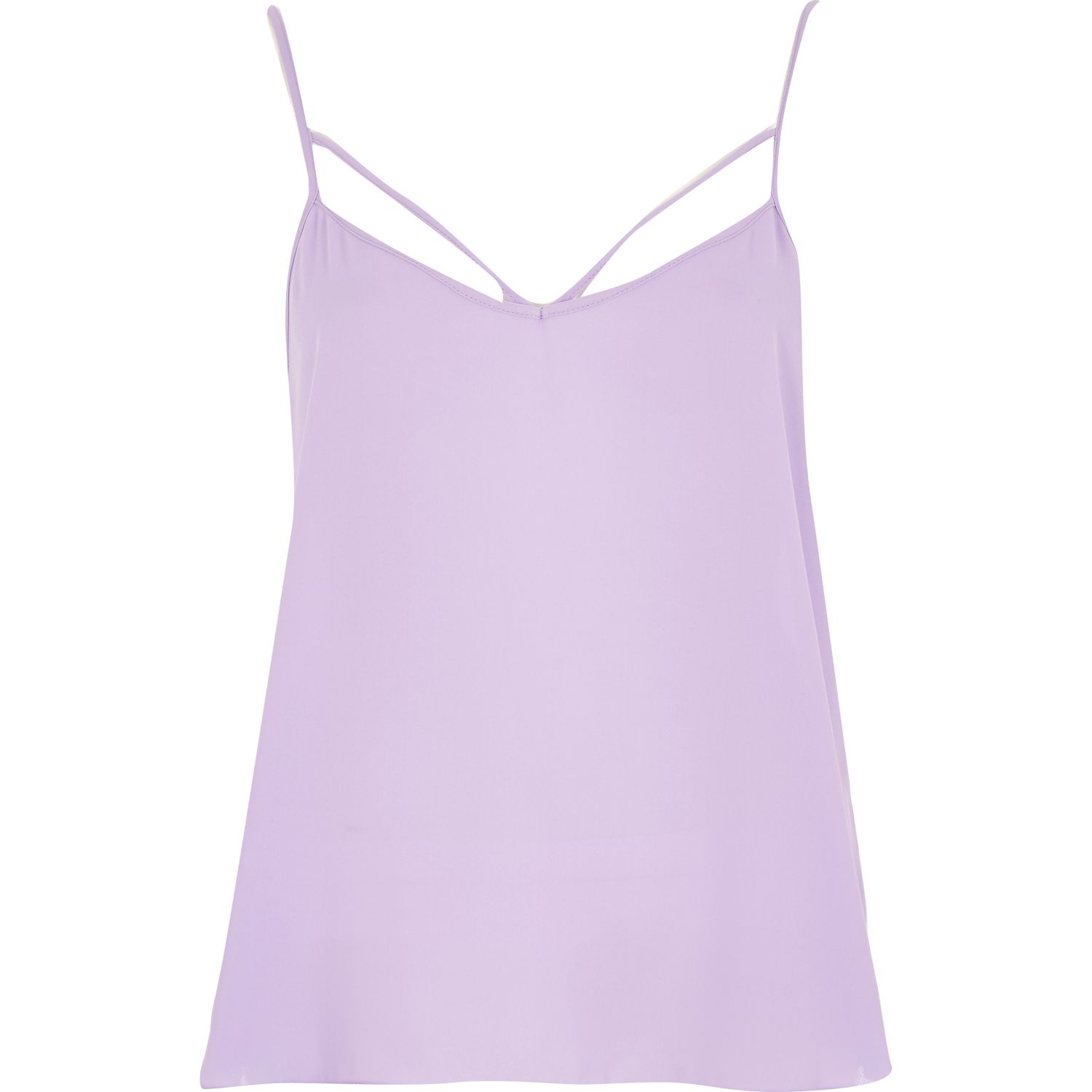 River Island Lilac Strappy Cami Top In Purple