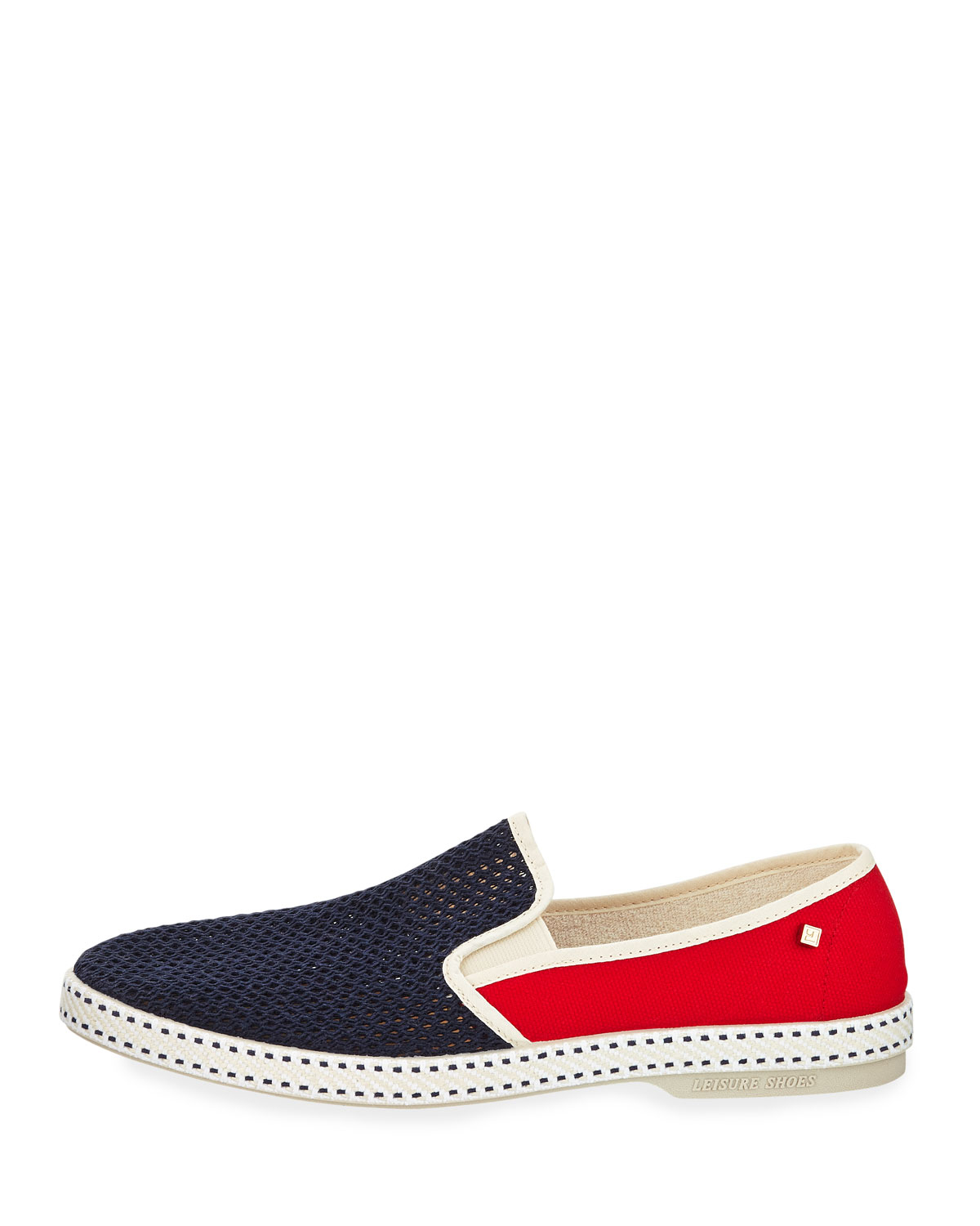 rivieras classic canvas slip on in blue lyst