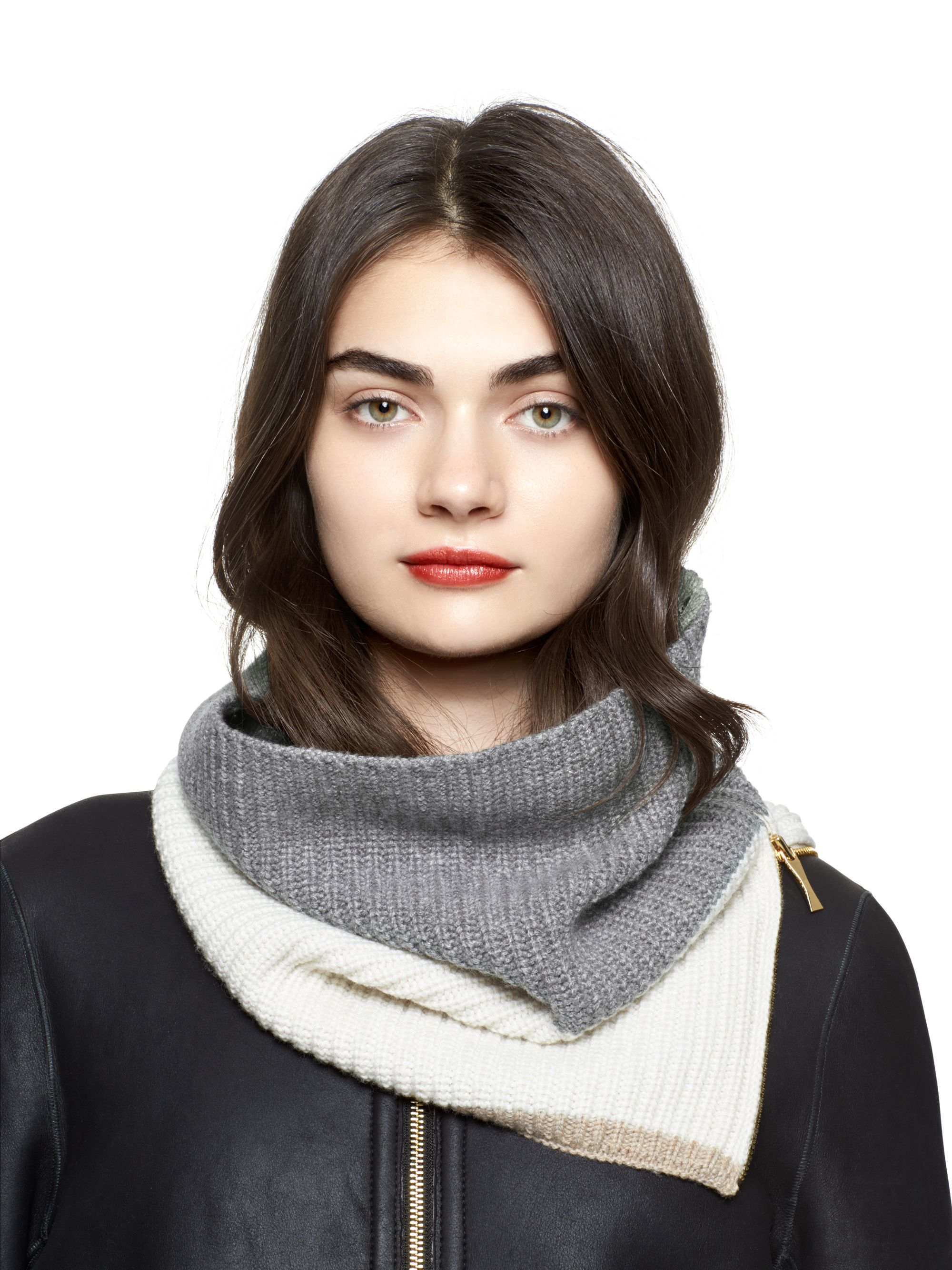 Lyst Kate Spade New York Zip Up Neckwarmer in Gray