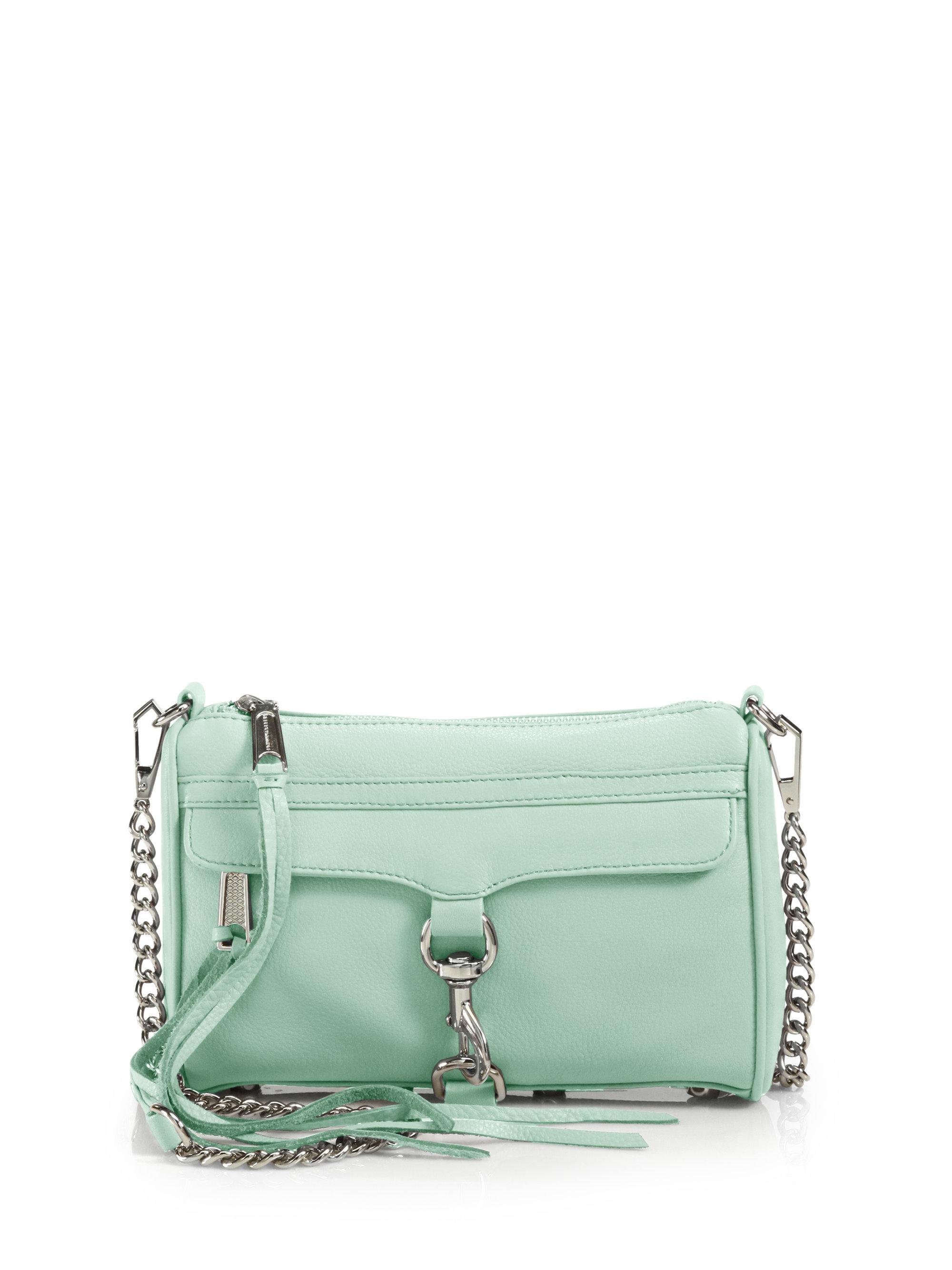 minkoff mini mac crossbody bag in green mint lyst