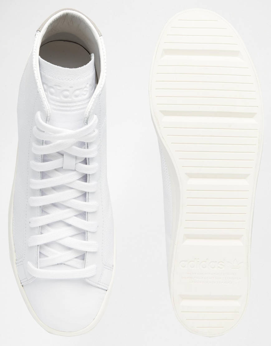 Lyst - adidas Originals Court Vantage Mid Top Trainers S79392 in White for  Men 96594acca