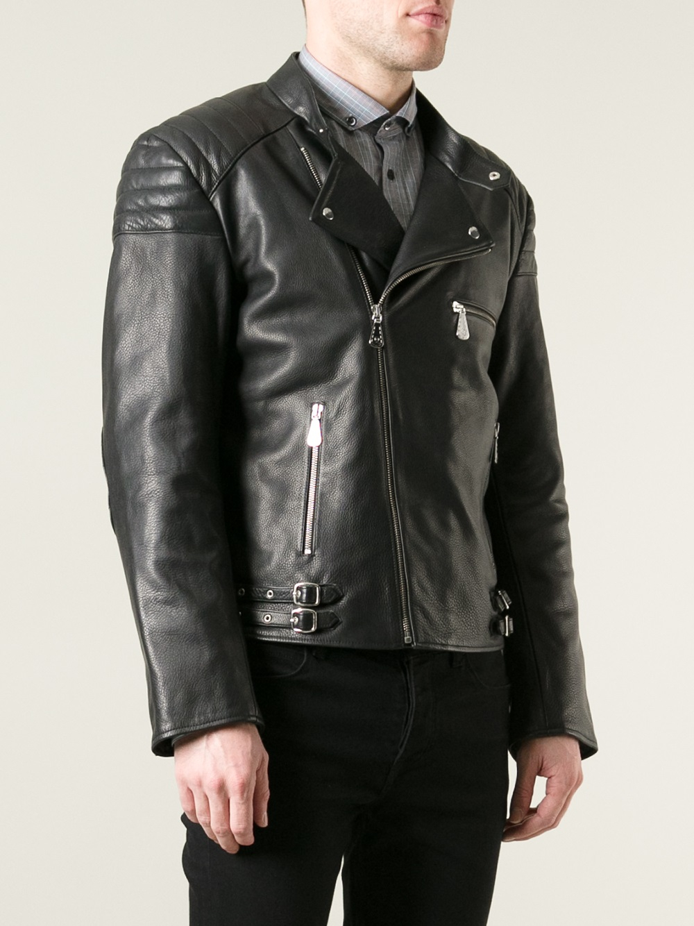 38a59f7171928 McQ Leather Biker Jacket in Black for Men - Lyst