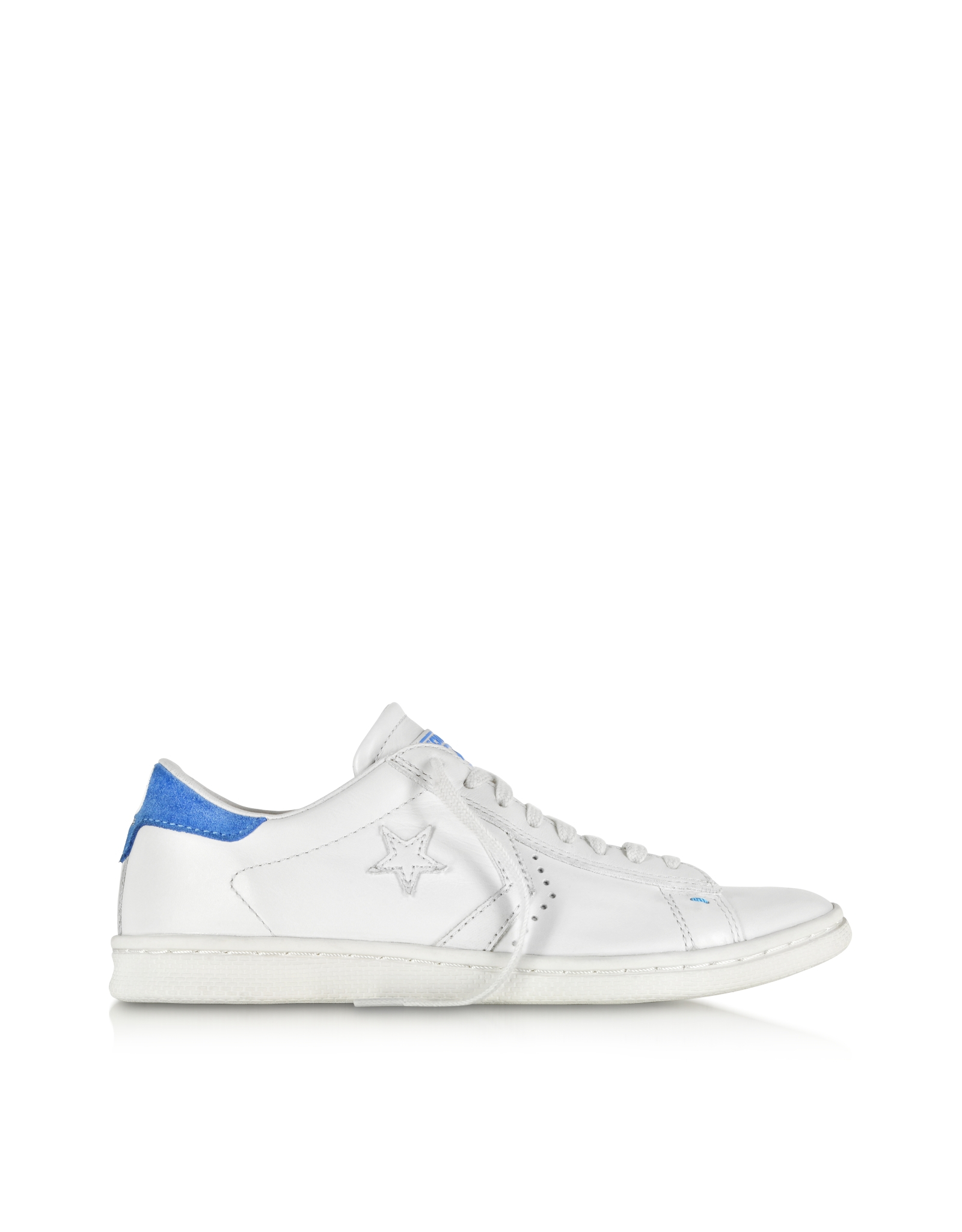 16225833b4f5c3 Lyst - Converse Cons Pro Leather Lp Ox White Dust And Light Blue Sneaker in  White for Men