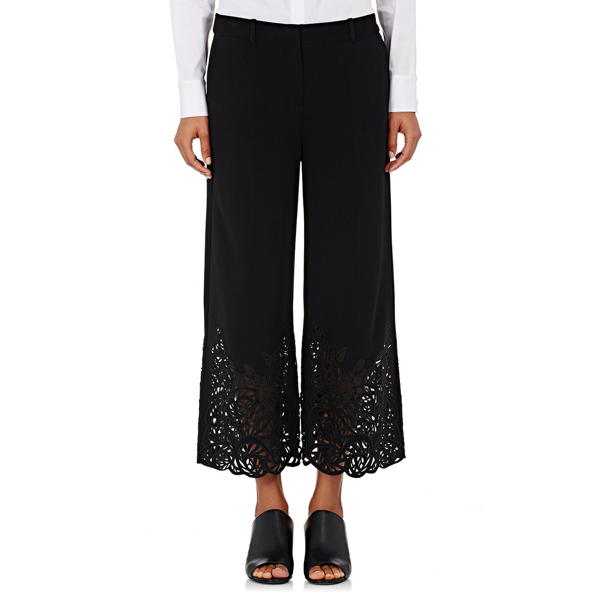 R/r studio Guipure Lace Gaucho Pants in Black | Lyst