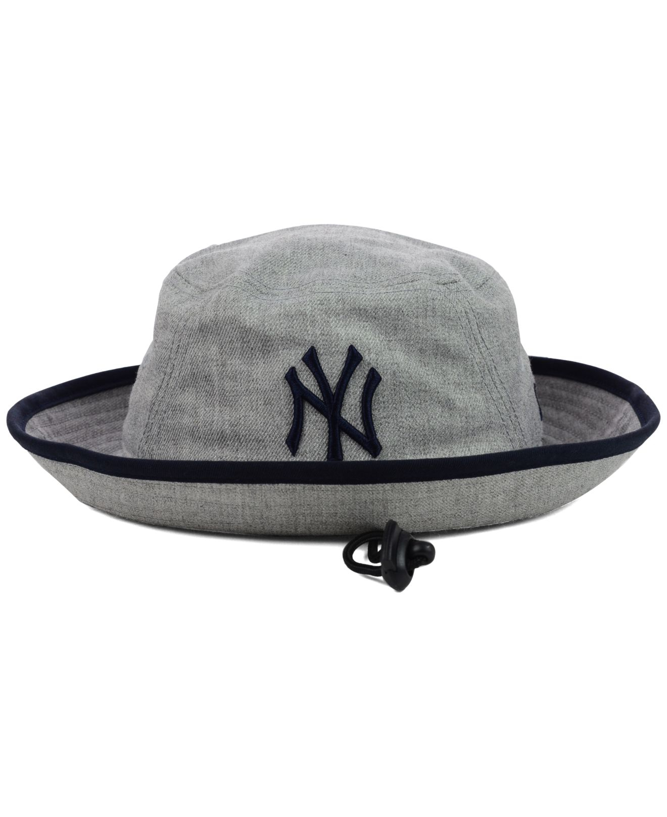 df9ad474479f1c ... inexpensive lyst ktz new york yankees heather tipped bucket hat in gray  for men 5aad1 eed3a