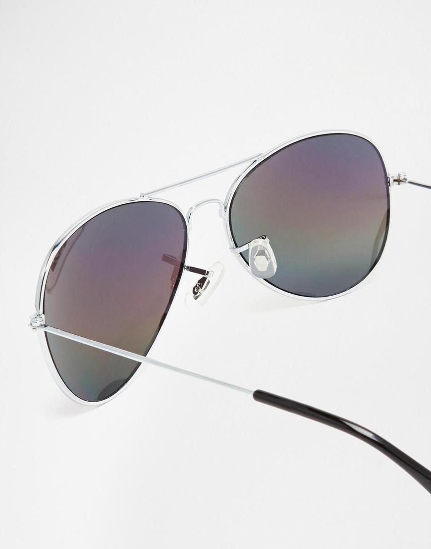f778d5141c Asos Aviator Sunglasses With Blue Revo Lens