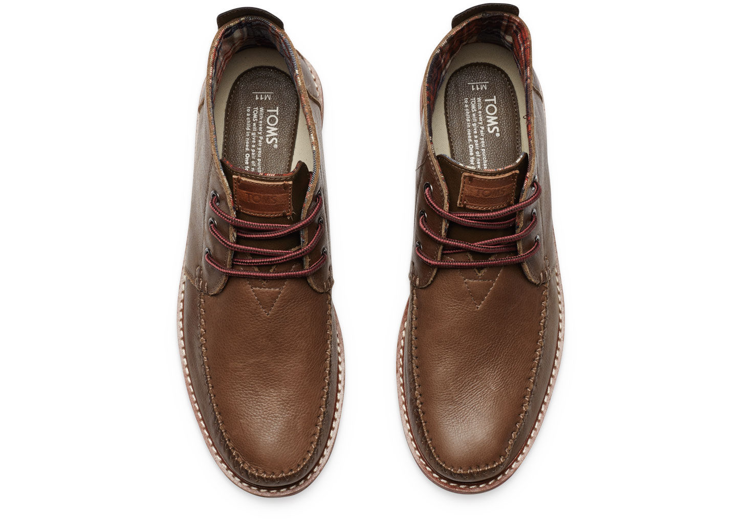 Toms Chocolate Leather Men'S Chukka Boots in Brown for Men   Lyst