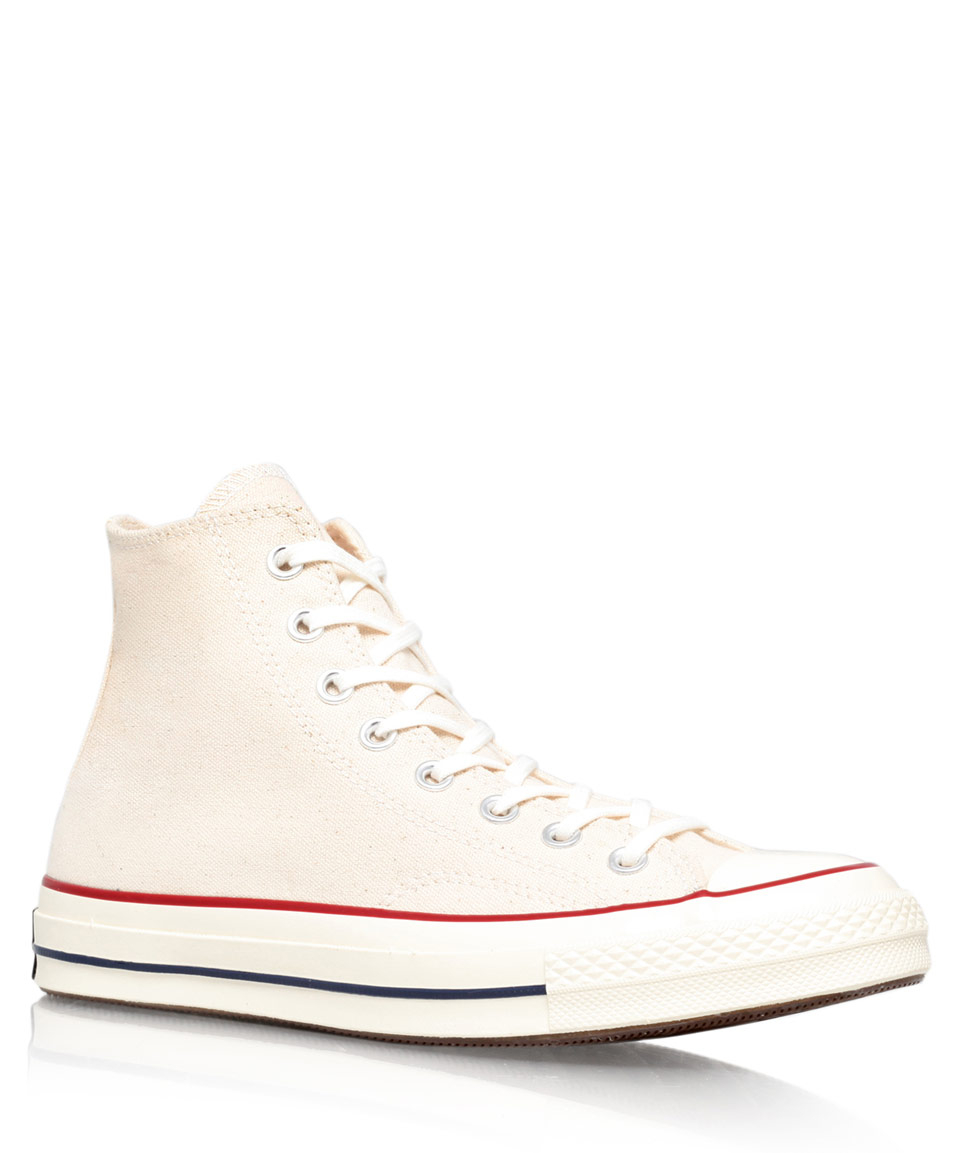 0d75dd4c69a9 Lyst - Converse Cream 70S Chuck Taylor Canvas Hi-Top Trainers in ...
