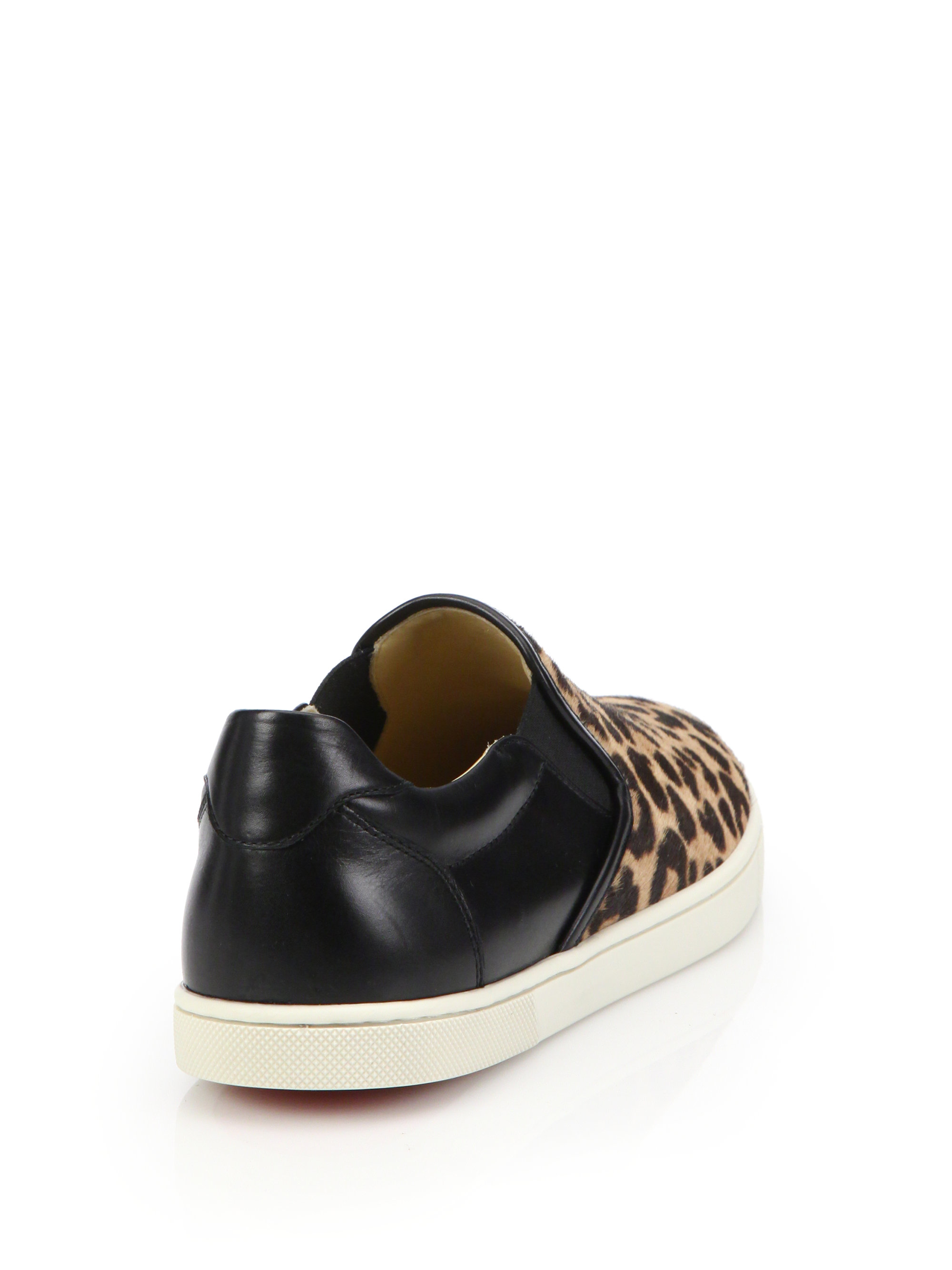louis vuitton replica mens shoes - Christian louboutin Master Key Leopard-print Calf Hair \u0026amp; Leather ...