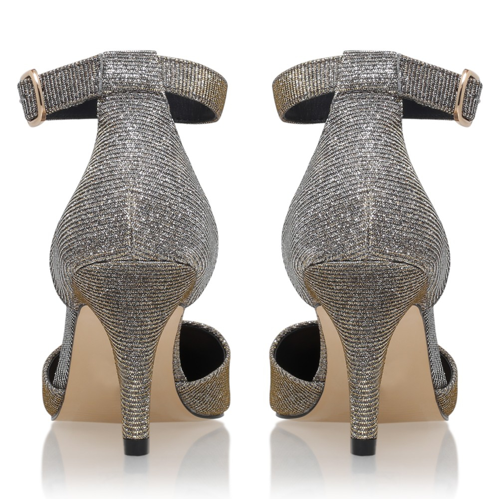 fd43e49490b Carvela Kurt Geiger Kandice Suedette Court Shoes in Metallic - Lyst