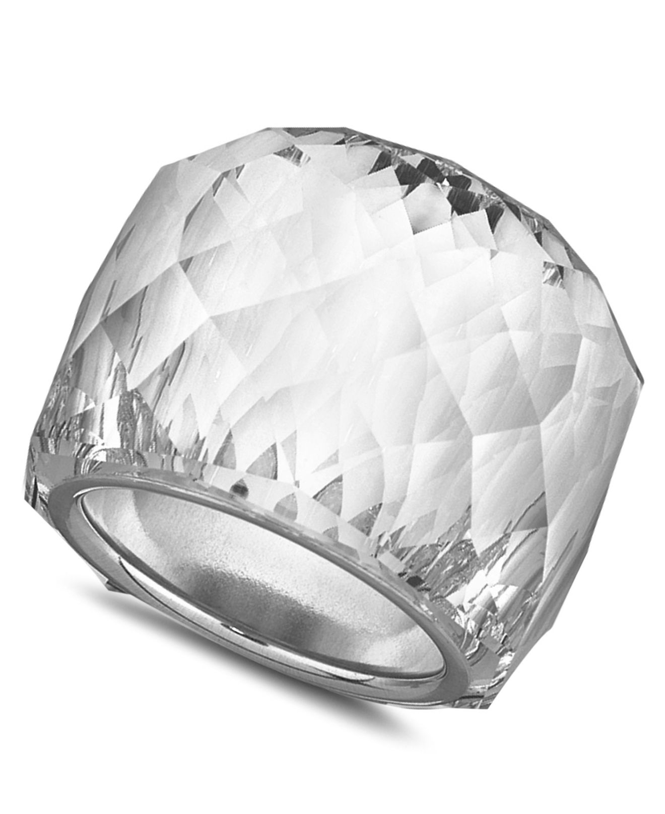 f756ba98067d81 Lyst - Swarovski Nirvana Ring in Metallic