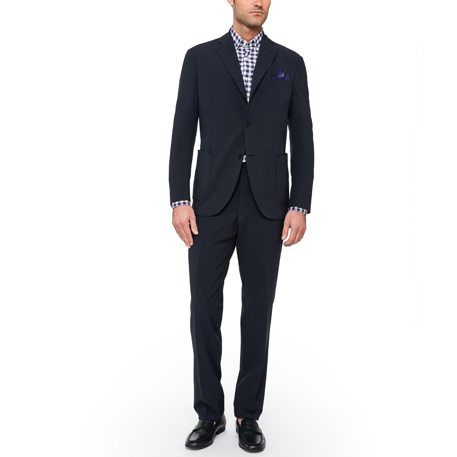 Slowear Lightweight Seersucker Suit in Blue for Men (Navy ...